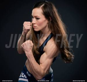 Jinh Yu Frey fights for the Invicta FC atomweight title at Invicta FC 19