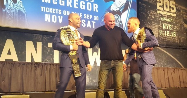 With UFC 205 win, Conor McGregor would be first in organization history to hold 2 belts simultaneously