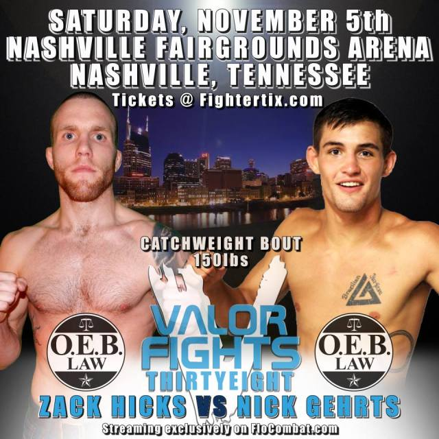 Hicks, Gehrts set to clash in Valor Fights 38 main event