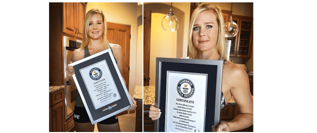 Holly Holm lands in Guinness World Records 2017 edition
