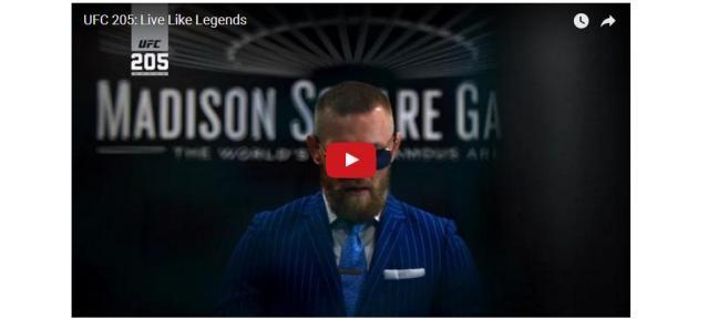 WATCH:  Chilling UFC 205 Promo:  Live Like Legends