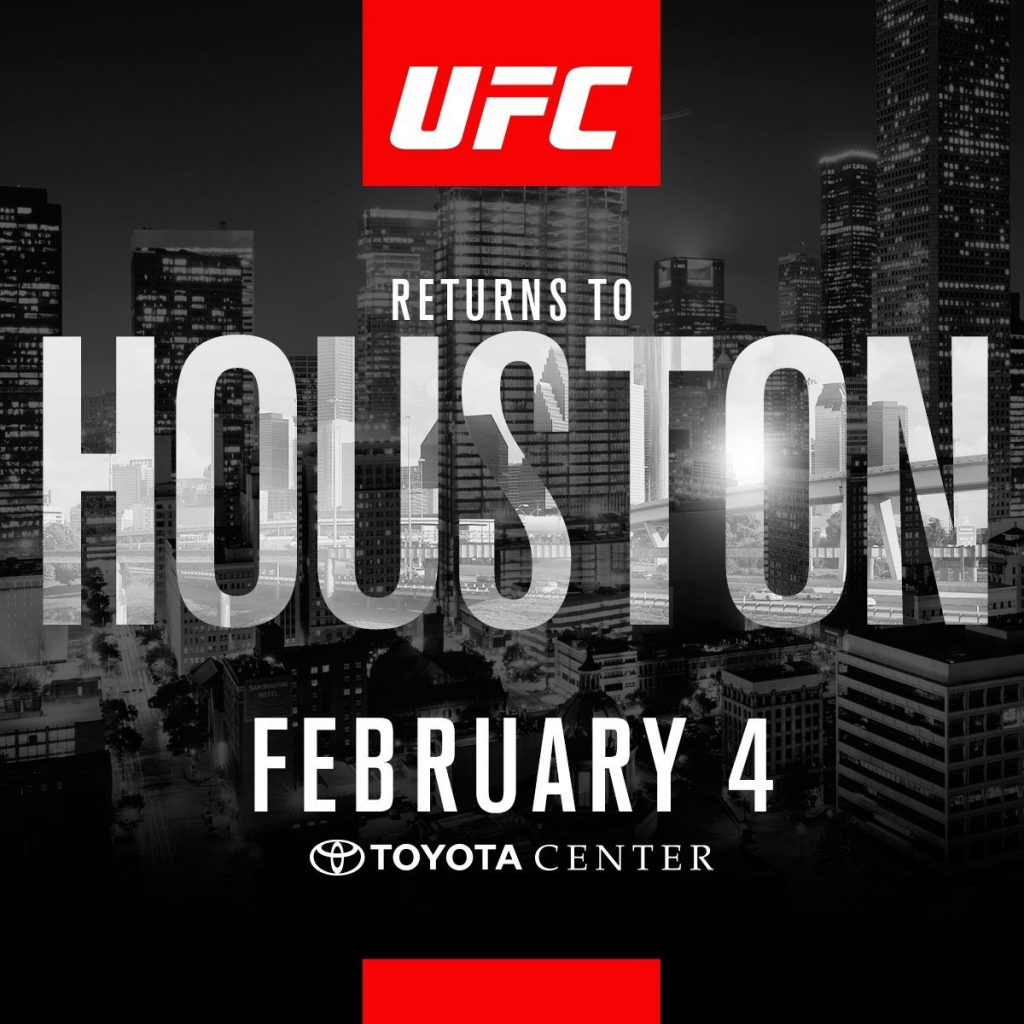 UFC announces Super Bowl weekend fight card for Houston