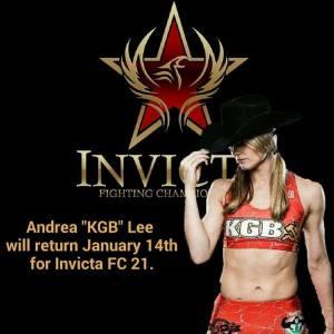 Andrea KGB Lee returns at Invicta FC 21