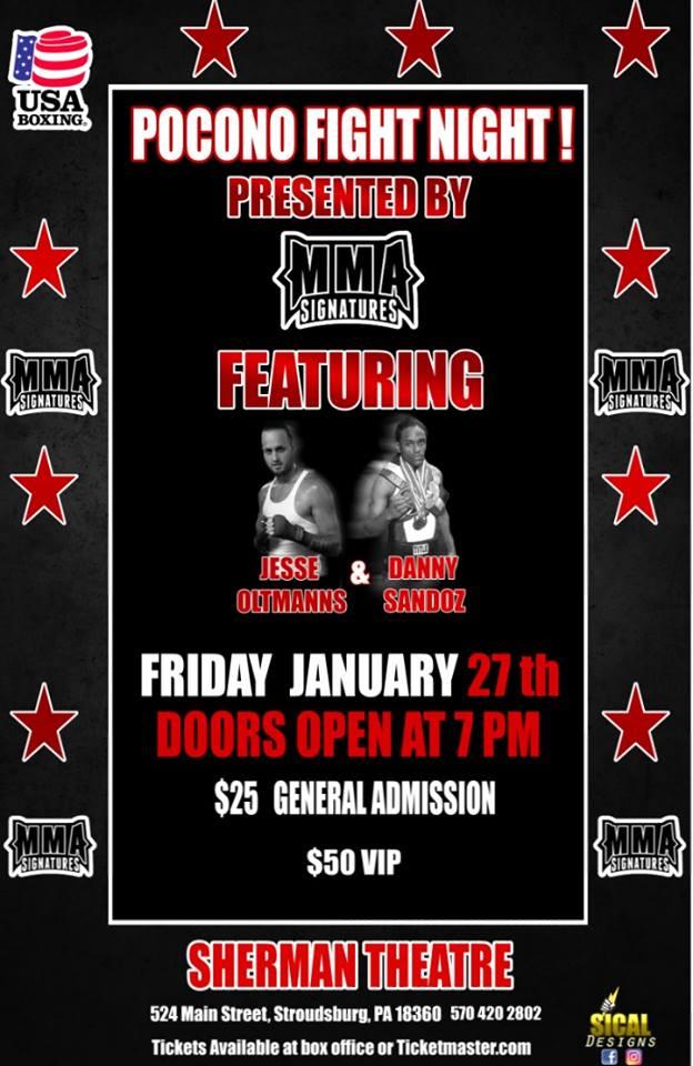 Pocono Fight Night, Boxing, Stroudsburg, PA
