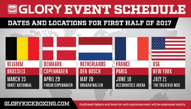 GLORY rounds out first half of 2017 with events in Den Bosch, Paris, New York