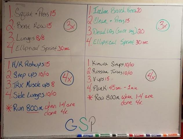 The GSP Workout – Georges St-Pierre is back.  Work out like a champ