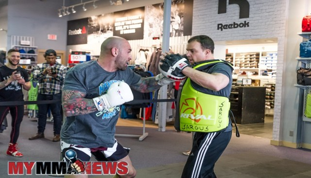 Maverick MMA Open Workouts and Press Conference at Reebok Outlet