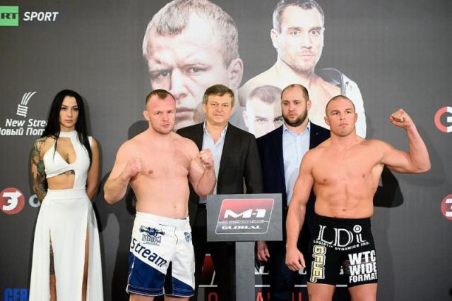 M-1 Challenge 75 weigh-in results – Alexander Shlemenko vs. Paul Bradley