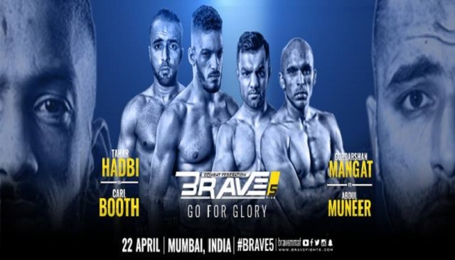 Brave Combat Federation to hold Brave 5: Go For Glory in Mumbai, India, April 22