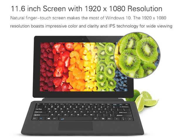 umper EZpad 5s Flagship 2 in 1 Ultrabook Tablet PC レビュー 解像度の説明