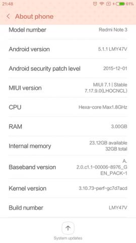 Xiaomi redmi note 3 pro ROM焼きのやり方
