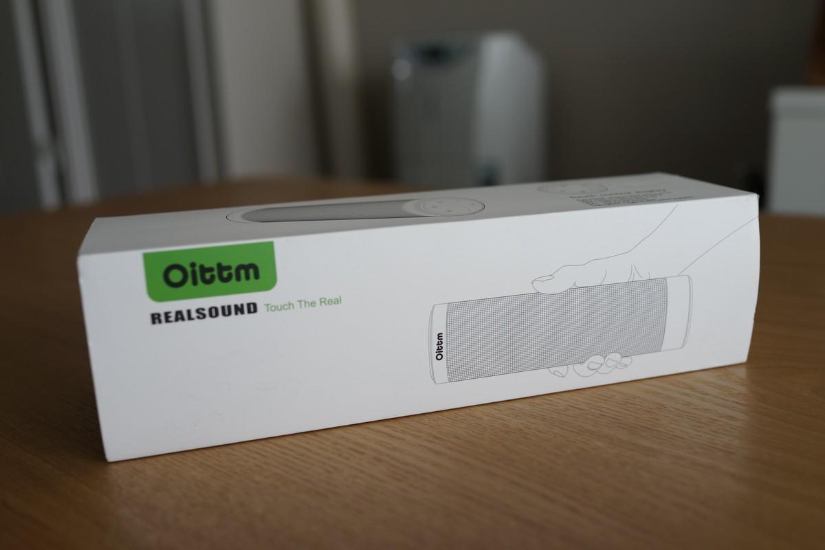 Oittm ワイヤレス Bluetooth4.0  ポータブルスピーカー レビュー 度と箱の写真