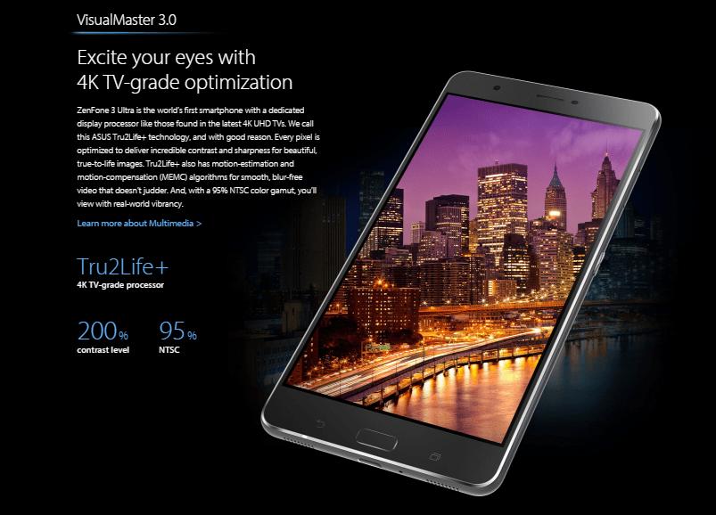 ASUS ZenFone 3 Ultra ZU680KL スペック詳細2