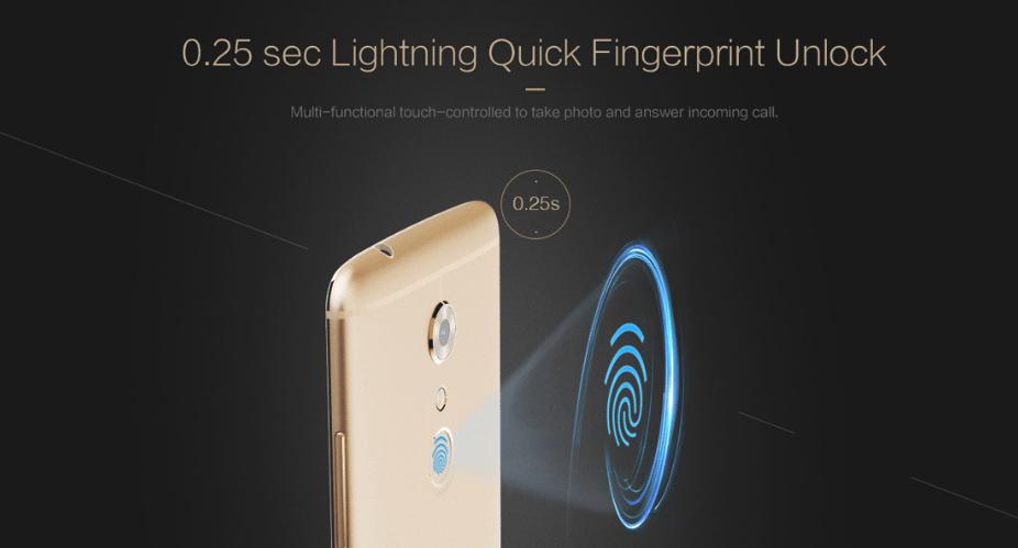 ZTE AXON 7のここがすごい! 指紋認証は0.25秒で解除可能
