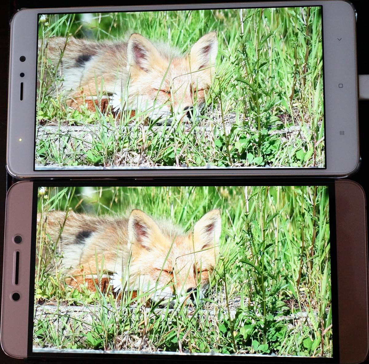 Xiaomi Mi5S Plus 液晶の美しさ 比較画像
