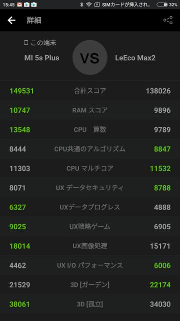 Xiaomi Mi5S Plusシステム詳細参考画像