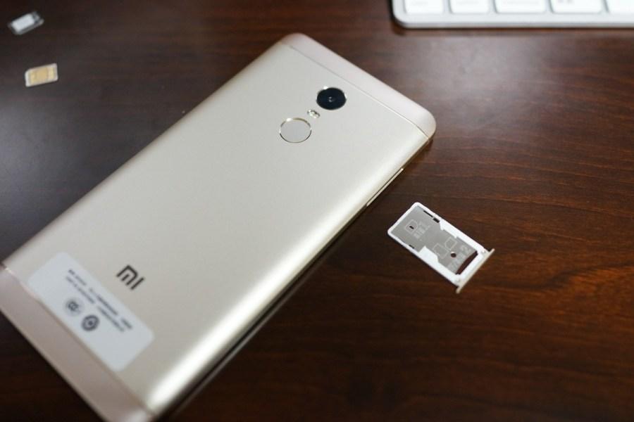 Xiaomi Redmi Note 4X 実機レビュー SIMトレイのサイズ