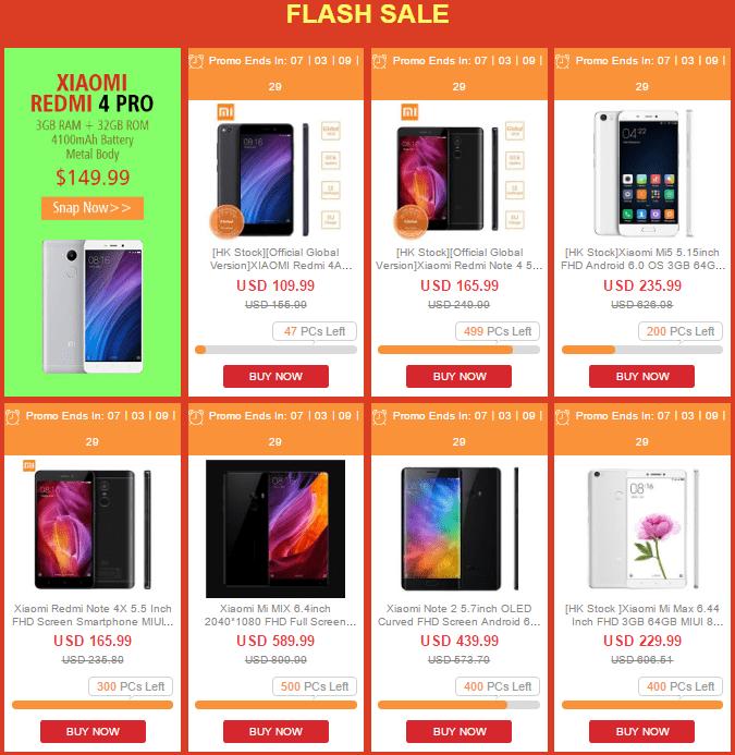 GeekBuying Xiaomiブランドセール