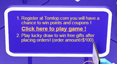 【7/10迄】TOMTOP13周年セール【割引クーポンが当たるゲーム有】