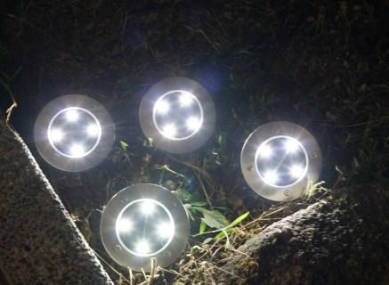 Tomshine 埋め込み式 LEDソーラーガーデンライトレビュー  4個セット