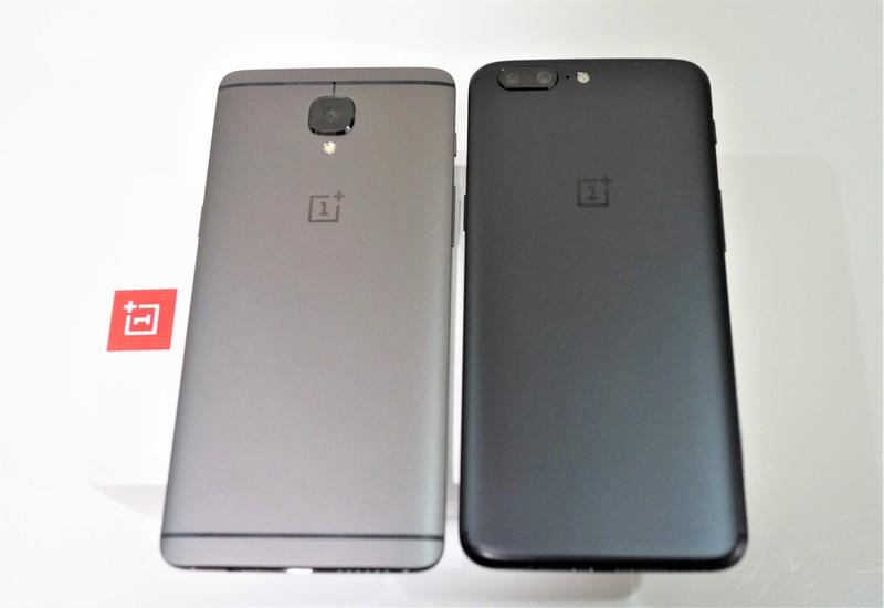 OnePlus 5 実機レビュー  OnePlus 5 と OnePlus 3Tの外観の違い 背面カメラの位置などの参考画像
