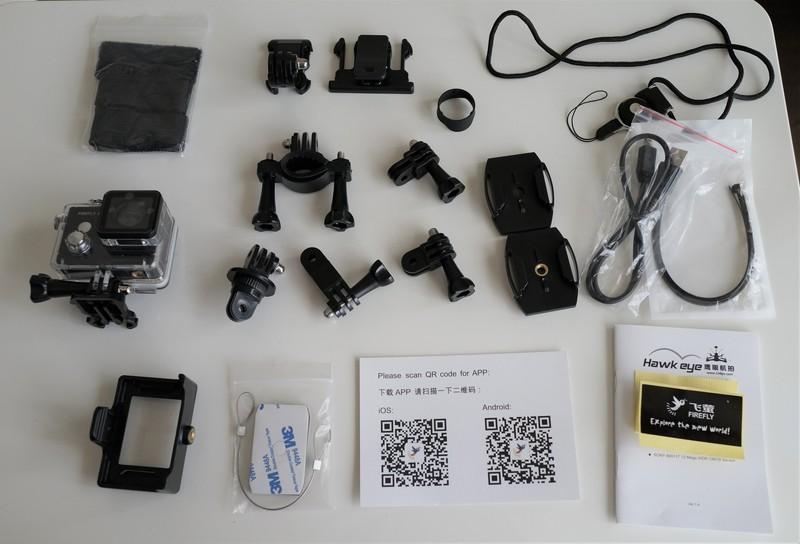 HawKeye Firefly 8S 4K Sports Camera レビュー アタッチメントの種類と説明参考画像