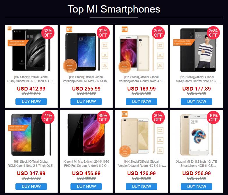 シェアでクーポン獲得!GeekBuyingでXiaomiスマホセール!MIX2、Mi A1、Mi Note 3など