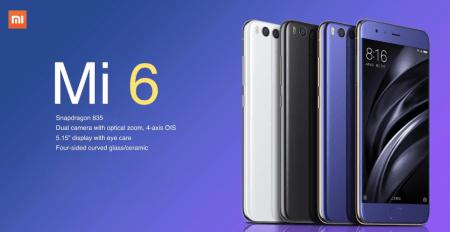 CafagoからXiaomi Mi6 6GB/64GB $365.99と6GB/128GB $428.27のクーポンが出ました!