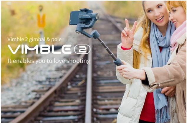 FeiyuTech Vimble 2 自撮り棒としても使えるスマホ用スタビライザーデビュー【クーポンで99ドル破格の安さ!】