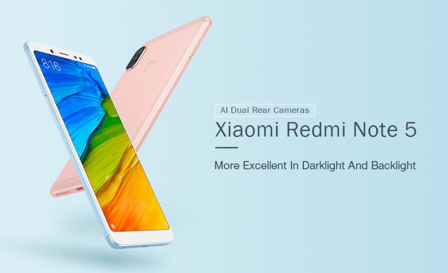 Xiaomi Redmi Note 5 自撮りに最適なAIカメラ搭載【クーポンで $171.99】