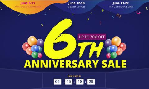 GeekBuyingの6周年セールでXiaomi mi mix 2Sが$479.99、Xiaomiロボット掃除機が$233.99!残り数時間なので急いで!