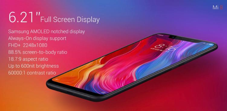 Xiaomi Mi8 Mi 8 スペックレビュー