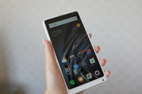 【クーポンで$463.64】Xiaomi MI MIX 2Sの実機レビュー AU本家VoLTE銀SIM使えました!