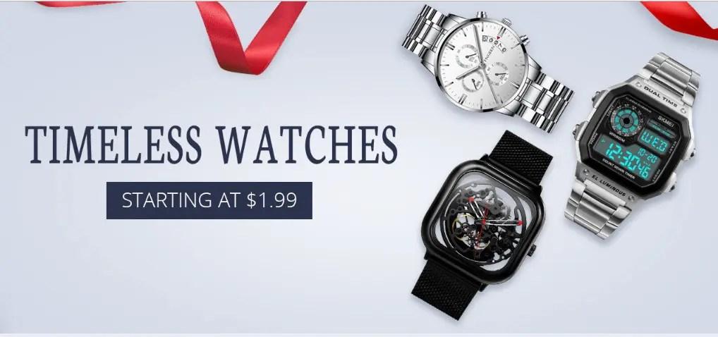 Geekbuyingでwrist watches brand saleで$1.99から格安ウォッチが販売中