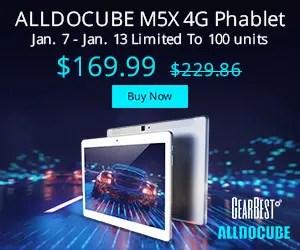 【クーポンで$128.99】ALLDOCUBE M5X 10.1インチMTK X27搭載4Gタブレット