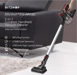 【Banggood×ガジェットフリーク読者プレゼント企画】BlitzWolf® BW-AR182 バッテリーが交換できて9000Paの強力サイクロンハンディー掃除機を2名様にプレゼントします!