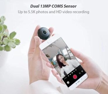 Androidスマホ用のXiaomi MADV Mini 13MP 360度パノラマカメラがクーポンで$45.99(5197円)でセール中