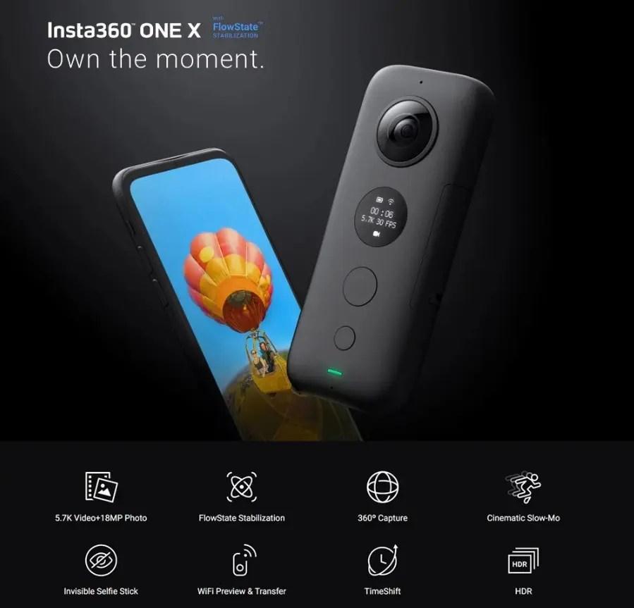 FlowStateで驚異の手振れ補正を可能にしたアクションカメラ「Insta360 ONE X」