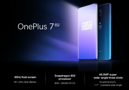 【セール価格$604.99】OnePlus 7 Pro スペックレビュー 背面トリプルレンズカメラ&フロントポップアップカメラで登場!