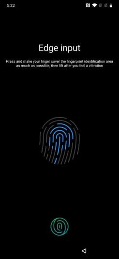 Oneplusの初期設定 指紋の登録
