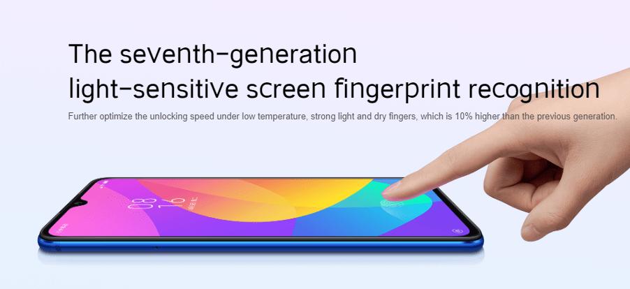 Xiaomi Mi CC9, Xiaomi Mi CC9 Meitu Edition, Xiaomi Mi CC9eは第7世代のインディスプレイ指紋認証センサー搭載