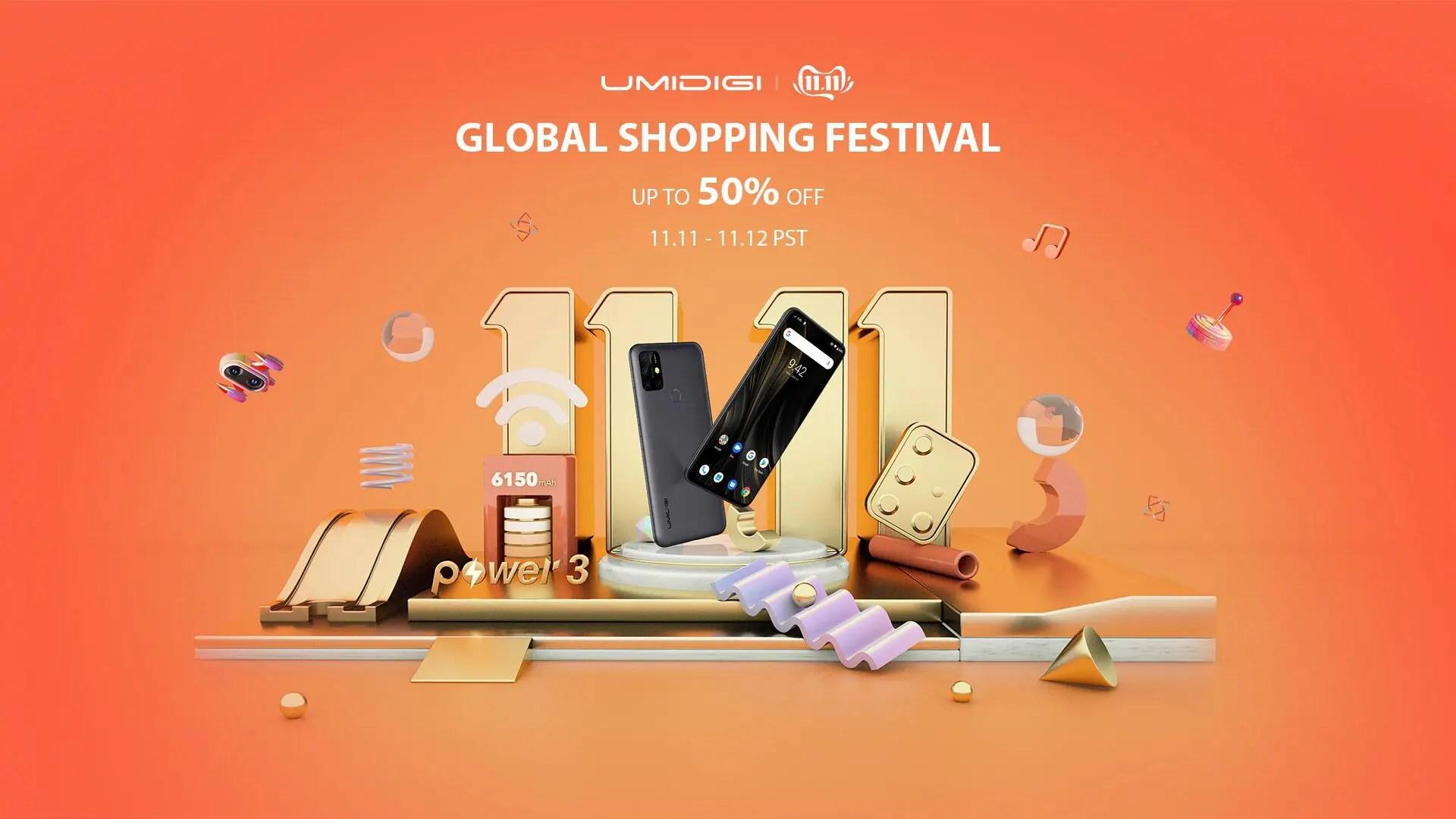 UMIDIGI独身の日11.11セールでPower 3など人気機種4種が特別価格で販売