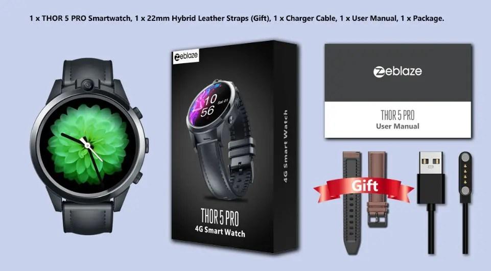 eblaze THOR 5 PROのスペックレビュー 4G LTE対応のスマートウォッチフォン