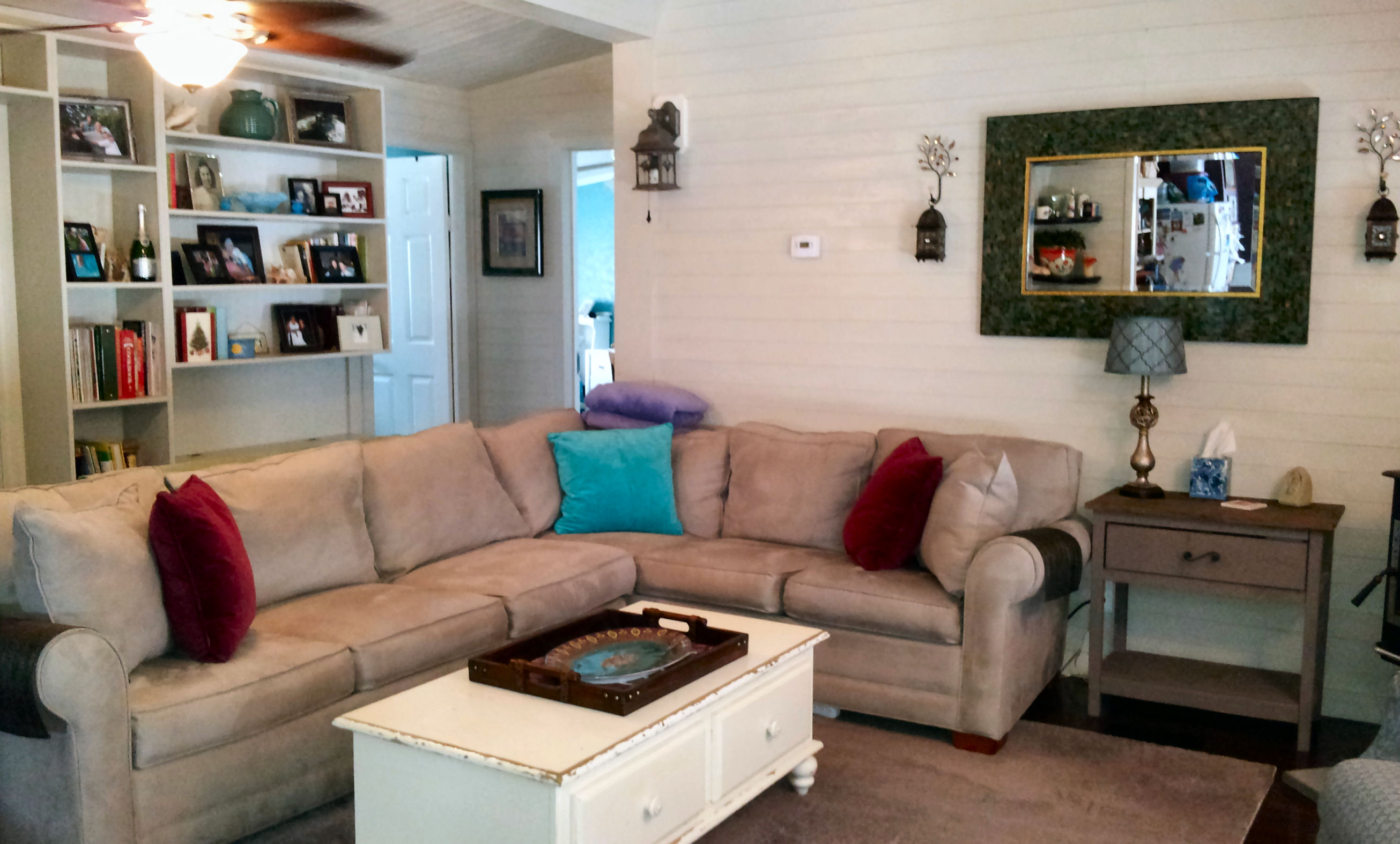Mobile Home Living Room Remodel- The Finale