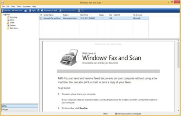 Windows fax and scan setup