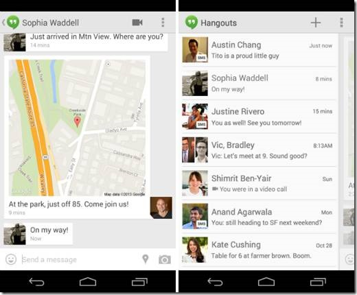 Google Hangouts Messaging App