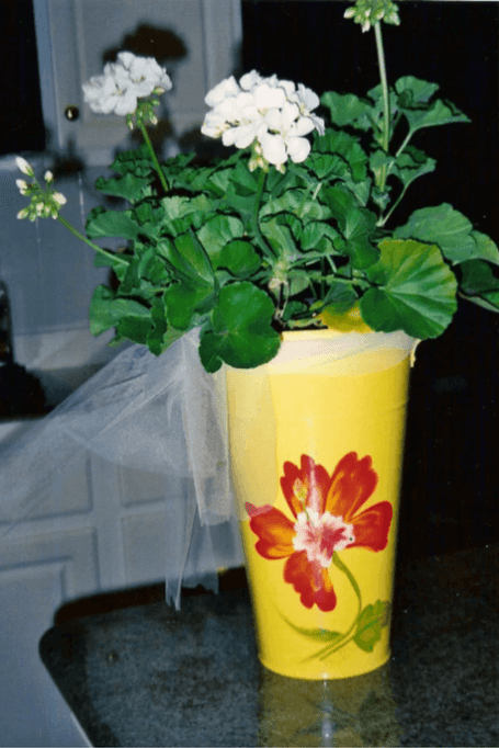 make money selling a hand painted tin flower pot