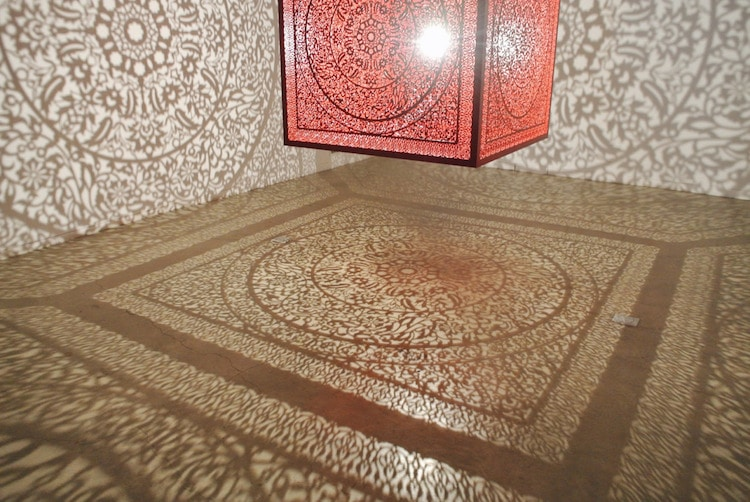 anila quayyum agha walking with my mothers shadow installation all the flowers are for me