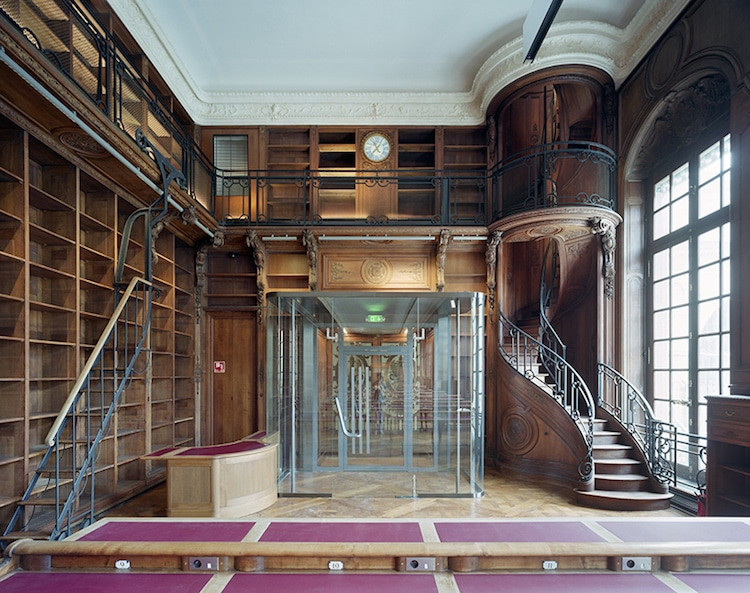 historic renovation of former national library of france gaudin
