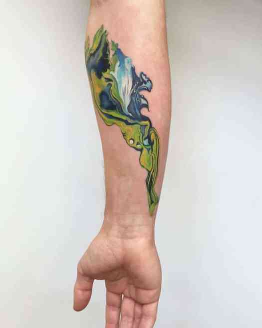 watercolor tattoos abstract pretty Amanda Wachob